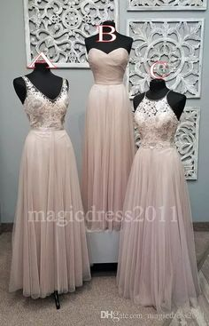 2016 Blush Long Bridesmaid Dresses Floor Length Plus Size Boho Country Wedding Party Jewel Sweetheart V Neck Lace Maid Of Honor Gowns Discount Bridesmaid Dresses Under 50 Fun Bridesmaid Dresses From Magicdress2011, $73.87| Dhgate.Com