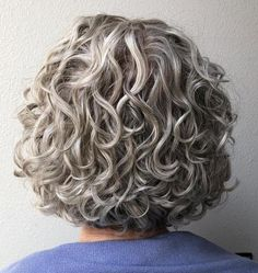 50 Modern Haircuts for Women over 50 with Extra Zing - long pixie hairstyles - Awesome Curly Gray Bob Who says curls can't be symmetrical and organized? If you are a curly - Bob Haircut Curly, Short Curly Haircuts, Bob Haircuts For Women, Short Curly Bob, Modern Haircuts, Curly Bob Hairstyles, Curly Bob Haircuts, Wedding Hairstyles, Hairstyles Men