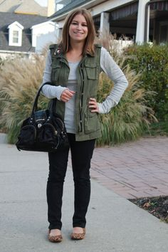 Cargo vest outfit fall
