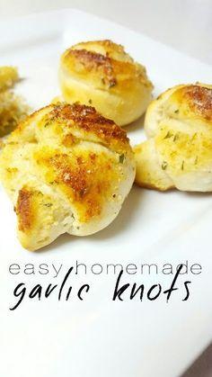 Homemade Garlic Knots - Lou Lou Girls
