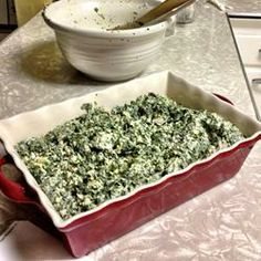 """Amazing Spinach Artichoke Casserole 