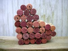 wine+cork+art | Wine Cork Heart Art, Wine Wedding Decoration, Vinyard Wedding, Winery ...
