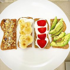 Toast four ways! Which would you choose?  Special thanks to @forgefoto for sharing this great photo!
