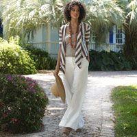 Summer Cardigan and Wide Leg Pants - Summer Fashion