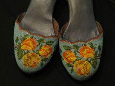 Nyonya beaded shoes, 1950s