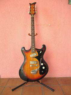 1960's Heit Deluxe Vintage Electric Guitar... Beautiful Sunburst Finish... Oceans of Mojo