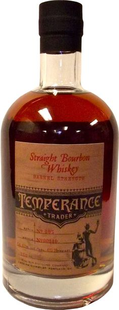 Temperance Trader Barrel Strength Bourbon #Whiskey. Aged for a minimum of four years, this #bourbon is bottled at cask strength by hand. | @Caskers