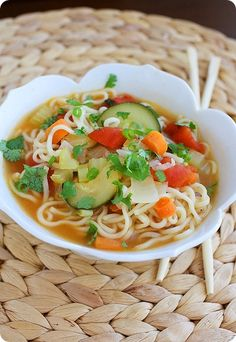 Ramen Vegetable Soup  http://www.thecomfortofcooking.com/2012/09/ramen-vegetable-soup.html