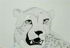 Cheetah pen zentangle drawing