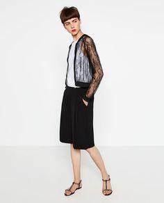 Image 1 of LACE BOMBER JACKET from Zara