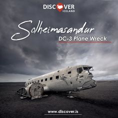 Iceland's most iconic and haunting #photography location, the wreckage of an airplane in #Sólheimasandur. The 40-year-old aircraft became one of the most visited sights after the accident, luckily, all the crew members survived.⁠  #iceland #discovericeland #travel #40yearsold #aircraft