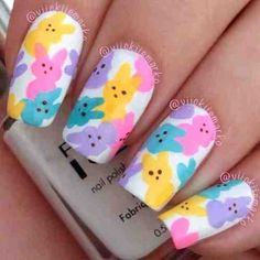 Looking for some adorable Easter Nail Designs? Here's the cutest collection of modern Easter nail art ideas. Browse through the best Easter nail designs. Nail Art Designs, Easter Nail Designs, Easter Nail Art, Nail Designs Spring, Nails Design, Cute Nail Art, Cute Nails, Pretty Nails, Do It Yourself Nails