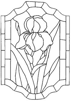 """Photo from album """"Неразобранное"""" on Yandex. Stained Glass Quilt, Stained Glass Flowers, Stained Glass Designs, Stained Glass Projects, Stained Glass Patterns, Mosaic Patterns, Stained Glass Windows, Tiffany, Stencil Printing"""