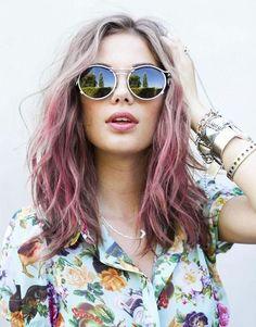 Arc-en-ciel de cheveux - Pink hair