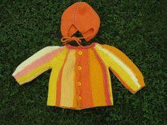 Skapa och Inreda: Tre små stickade koftor Baby Barn, Baby Knitting Patterns, Brooch, Christmas Ornaments, Holiday Decor, Children, Crochet, Babies, Knits