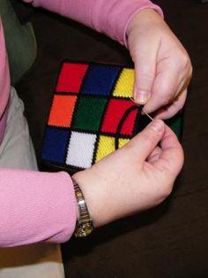 Rubik's Rubiks Rubix Cube Tissue Box Cover Seen on Big Bang Theory