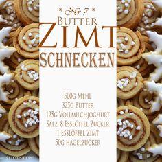 seidenfeins Dekoblog : Butter-Zimt-Schnecken * cookies butter - cinnamon