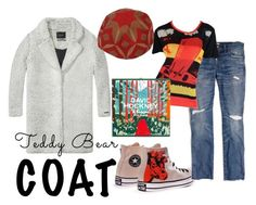 """Teddy Bear Coat 2"" by dita-west-grand ❤ liked on Polyvore featuring Maison Scotch, Madewell and Olympia Le-Tan"