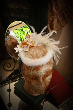 Winter Walk Victorian Fascinator ladies by TheSistersBrimm on Etsy, $45.00