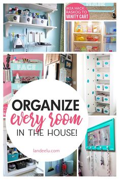 How to Organize Every Room in the House! Tons of great and inexpensive ideas to . How to Organize Every Room in the House! Tons of great and inexpensive ideas to organize every nook Small Space Organization, Garage Organization, Organization Ideas, Inexpensive Home Decor, Diy Home Decor, Vanity Cart, Easy Garage Storage, Organizing Your Home, Organizing Tips
