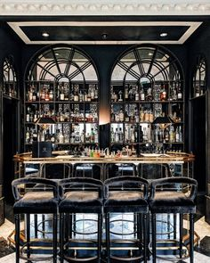 Glamorous and exciting bar decor needs matching furniture. Discover our collecti. Glamorous and ex Restaurant Design, Restaurant Bar, Modern Restaurant, Bar Interior Design, Luxury Interior, Luxury Bar, Home Bar Decor, Home Bar Designs, Café Bar