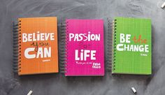 eco jot journals: Buy one, one donated to a child in need worldwide