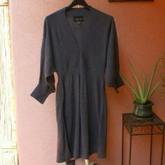 Gray Sweater Fall Dress Very soft dark gray sweater dress. Extremely comfortable and chic. Only worn once and in like-new condition. Connected Apparel Dresses