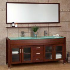 "71"" Landford Double Vanity with Mirror and Shelf - Bathroom Vanities - Bathroom"