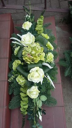 Selecting The Flower Arrangement For Church Weddings – Bridezilla Flowers Rosen Arrangements, Funeral Floral Arrangements, Tropical Flower Arrangements, Church Flower Arrangements, Beautiful Flower Arrangements, Beautiful Flowers, Casket Flowers, Grave Flowers, Cemetery Flowers