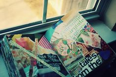 my collage journal, always hangin out by the window