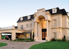 dream house was built and raffled as a movie promotion Classic House Exterior, Dream House Exterior, Style At Home, Dream Home Design, House Design, Future House, My House, Huge Houses, Mansion Interior