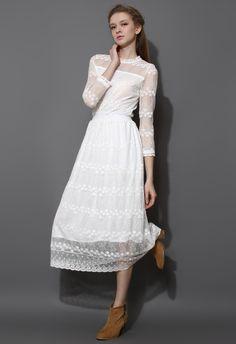 Full of Grace White Lace Mesh Maxi Dress - Maxi - Dress - Retro, Indie and Unique Fashion