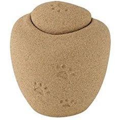 Oceane Sand Pawprints Dog Cremation Urn - Medium Urn For 40 Pound Dog, Biodegradable Urn For Pet Ashes