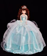 Tulle Dress Quinceanera Doll #quincedoll