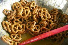 Homemade honey mustard pretzels!!! Um...yes!!!