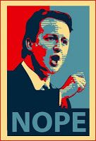 Jon Slattery: Nope not Hope: Cameron poster spoof