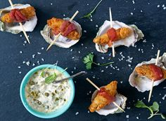 Angels on Horseback / Bacon Wrapped Oysters | The versatility of this delicious oyster dish makes it the perfect appetizer for a casual venue, dress it up with micro arugula for a refined dinner, add it to your buffets and your catering menu. These bacon-wrapped oysters are an unexpected crowd-pleaser. #SeaTasteEnjoy #SeafoodRecipe