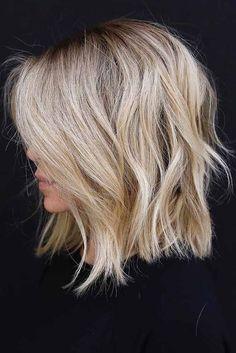 18 shag hairstyles & haircuts that have an approach for every hair Short Wavy Hair, Short Hair Styles Easy, Curly Hair Styles, Thin Hair, Soft Hair, Celebrity Hairstyles, Hairstyles Haircuts, Cute Blonde Hairstyles, Blonde Lob Hair