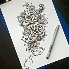 Розы, кружево