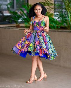 Trendy Short Ankara Dresses To Slay This Month Ankara Short Gown Styles, Short Gowns, Ankara Gowns, Latest African Fashion Dresses, African Print Dresses, African Print Fashion, Ankara Fashion, African Prints, African Attire