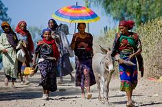 Women going to the market, Bati, Ethiopia. Every week, people from all around the area come to the market which is a giant one.    Courtesie: Eric Lafforgue, Toulouse (France).