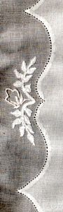 Pin Stitching & Madeira Applique  Tutorial- PDF Format- Pin stitching is a beautiful embroidery accompaniment to garments & linens. When applied to shaped hems on skirts, or edges of collars, pockets, & cuffs, it is currently referred to as Madeira applique. But pin stitching is just as interesting when placed on a straight hem, adding detail not found in ready-to-wear. Dependent upon material (usually light-weight or loose-woven), the resultant holes cause onlookers to wonder how you did…
