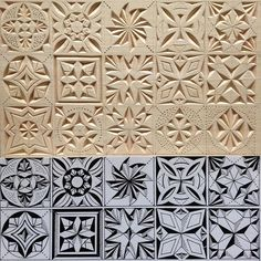 Step Guide of 16000 Carpentry Projects - Size of the patterns: 4 cm 4 cm. by tatbalcarvings Step Guide of 16000 Carpentry Projects - Get A Lifetime Of Project Ideas and Inspiration! Wood Carving Designs, Wood Carving Patterns, Carving Wood, Carpentry Projects, Wood Projects, Chip Carving, Got Wood, Drawing Challenge, Whittling