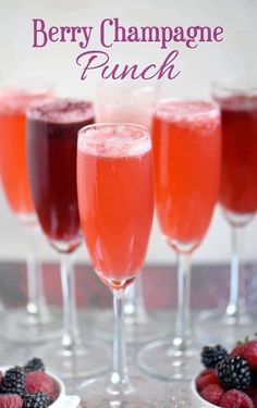 This Berry Champagne Punch is the perfect way to kick off New Year's Eve! Made with fresh berries and champagne or sparkling wine!
