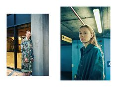 New dystopia Left: Jacket and shirt, both Stephanie Davidson. Right: Coat, Kelly Dawn Riot; dress, Stephanie Davidson. Styling: Alexandra Fiddes Photographs: Igor Termenon