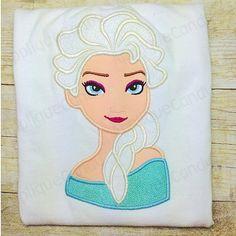 Frozen Elsa Applique Embroidery Design 4x4 5x7 by AppliqueCandy, $4.00
