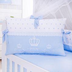 O Kit Berço Príncipe Harry é lindíssimo! Com bordados super delicados, o enxoval de bebê fica elegante do jeito que você sempre sonhou!