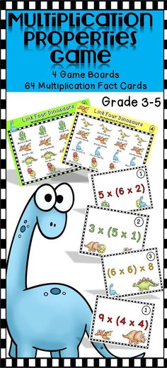 Super engaging fun way for students to practice with multiplication properties!