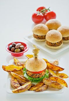 These veggie burgers from Vegan-Ease are crazy simple to make.  via @zsudever