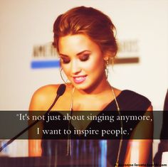 demi lovato facts | Tumblr This is how I want to help people with my music.